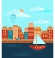 city sea vector image vector image