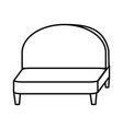 couch icon image vector image