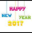 Creative happy New Year 2017 Greeting design vector image vector image