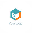 cube storage box logo vector image