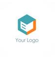 cube storage box logo vector image vector image