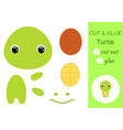 cut and glue baturtle education developing vector image vector image