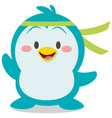 cute penguin character art vector image vector image