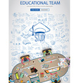 Educational and Learning concept with Doodle vector image vector image
