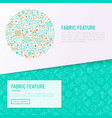fabric feature concept in circle vector image vector image