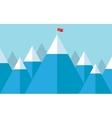 Flag on the peak vector image