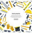 flat construction tools with place for text vector image vector image
