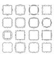 flourishes vintage frames set vector image