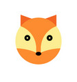 fox cartoon animal head vector image vector image