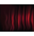 Fragment dark red stage curtain vector image vector image