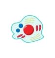 Germs cartoon icon vector image