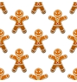 Gingerbread man cookie seamless pattern vector image
