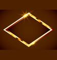 gold shiny vintage border golden luxury realistic vector image vector image