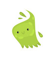 green viruses or bacteria emoticon character of vector image vector image