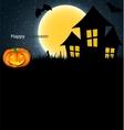 Halloween Background with Pumpkin vector image vector image