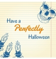 Halloween doodle - candles and skull vector image vector image