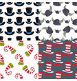 hats funny caps for party holidays seamless vector image vector image