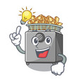 have an idea deep fryer machine isolated on mascot vector image vector image