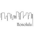 honolulu city one line drawing vector image vector image