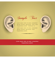 Human ears vector image vector image