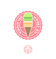 ice cream logo italian gelateria cafeteria cone vector image vector image