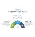infographic template with three elements vector image vector image