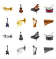 isolated object of music and tune icon set of vector image