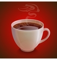 Isolated realistic white coffe cup with vapor on vector image vector image
