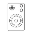 isolated speaker icon vector image vector image