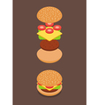 Isometric of Burger ingredients vector image vector image