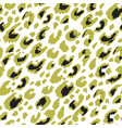 leopard print animal camouflage seamless pattern vector image