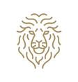 lion face monoline outline logo icon vector image