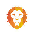 lion logo design inspiration vector image