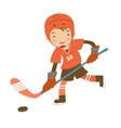 Little hockey player vector image vector image