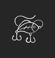 lures chalk white icon on black background vector image