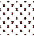 magic hat and wand pattern vector image vector image