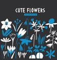 modern flowers design template scandinavian style vector image