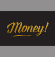 money gold word text typography vector image vector image