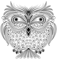 Monochrome abstract owl vector image vector image