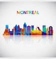 montreal skyline silhouette in colorful geometric vector image vector image