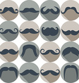 Moustaches set Design elements Seamless pattern vector image vector image