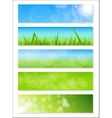 Natural Sunny Backgroundc Banner vector image