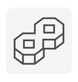 paver block icon vector image vector image