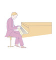 pianist playing piano in suit classic music show vector image