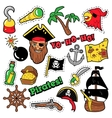 Pirates Badges Patches Stickers vector image