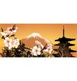 Postcard Sakura Japanese vector image vector image