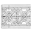 romanesque interlacement band is an oriental vector image vector image