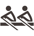 rowing icon vector image