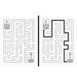 Sailboat maze vector image vector image