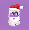 santa claus wearing sunglasses vector image